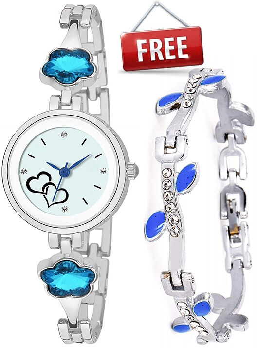 Senjarya Times  present Buy 1 Women's Watch And Get 1 Fancy Bracelet Free  ST192