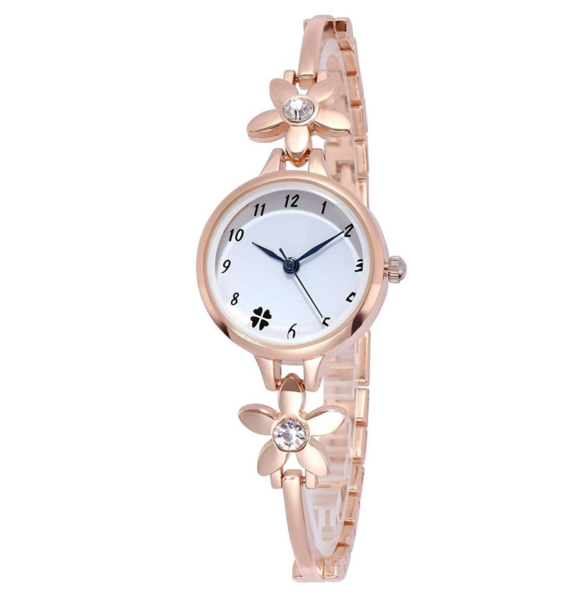 Senjarya Times White Dial Rose Gold Full Design fancy bracelet tipe watch For Women And Girls
