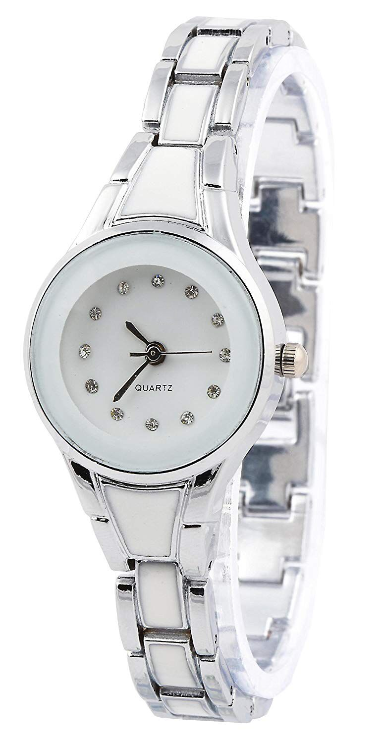 Senjarya Times White Dial Fancy Strap Design watch For Women And Girls