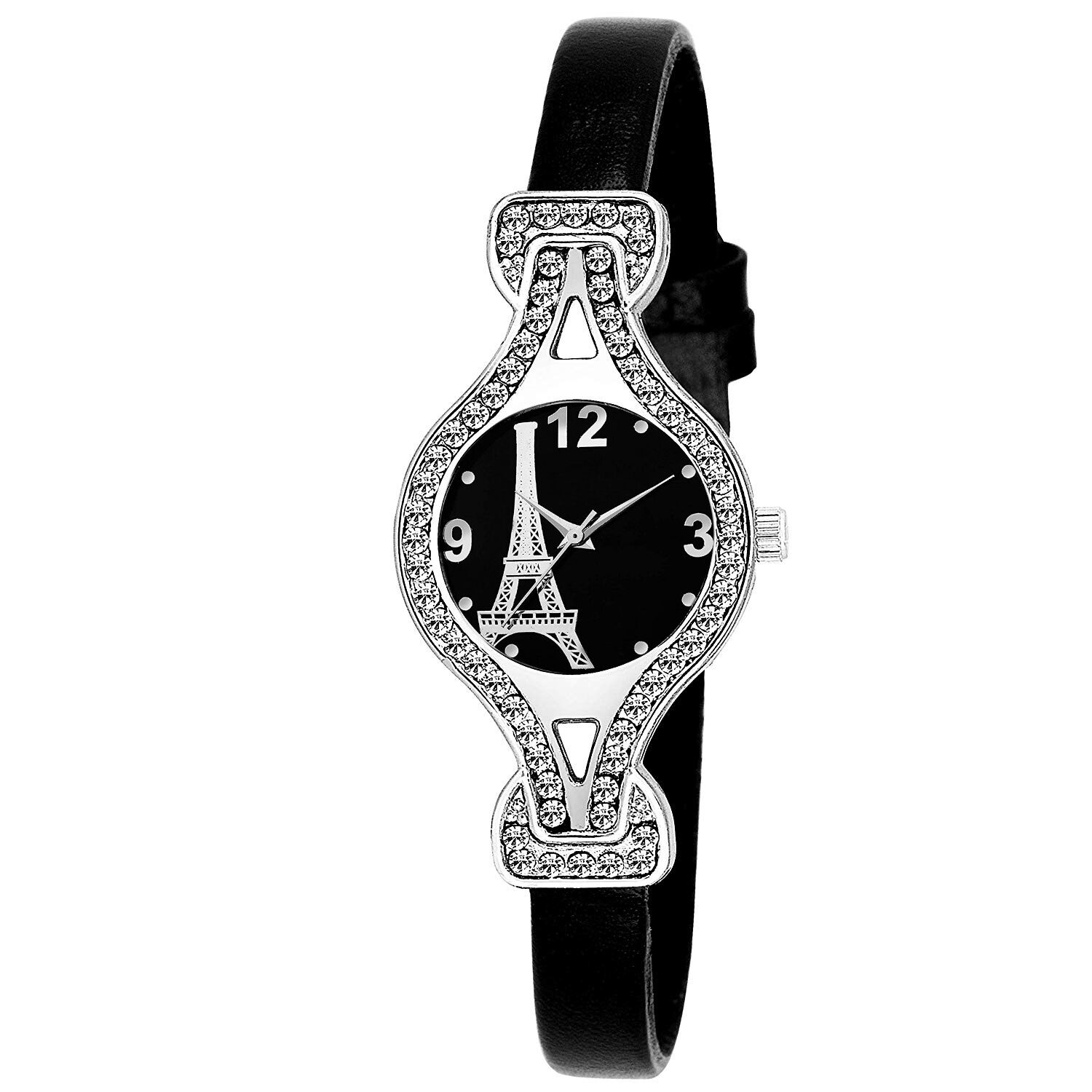 Senjarya Times Slim Slim Perish Black Dial Fancy Design Watch For Girls And Ladies