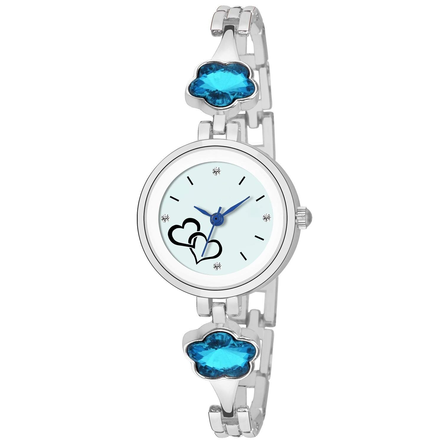 Senjarya Times Slim Sky blue  Dial Attractive New Pattern Girls Stylish Designer Watch For Girls And Ladies