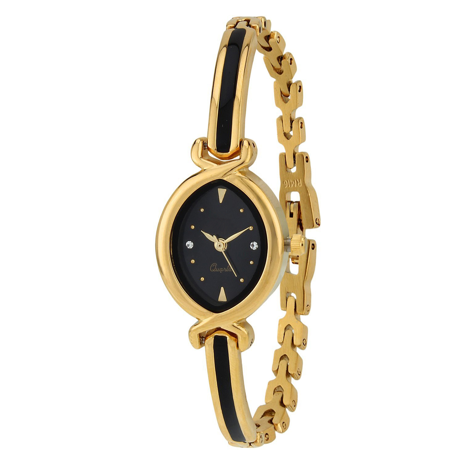 Senjarya Times New Stylish Black Dial Bengal Watch For Girls And Ladies