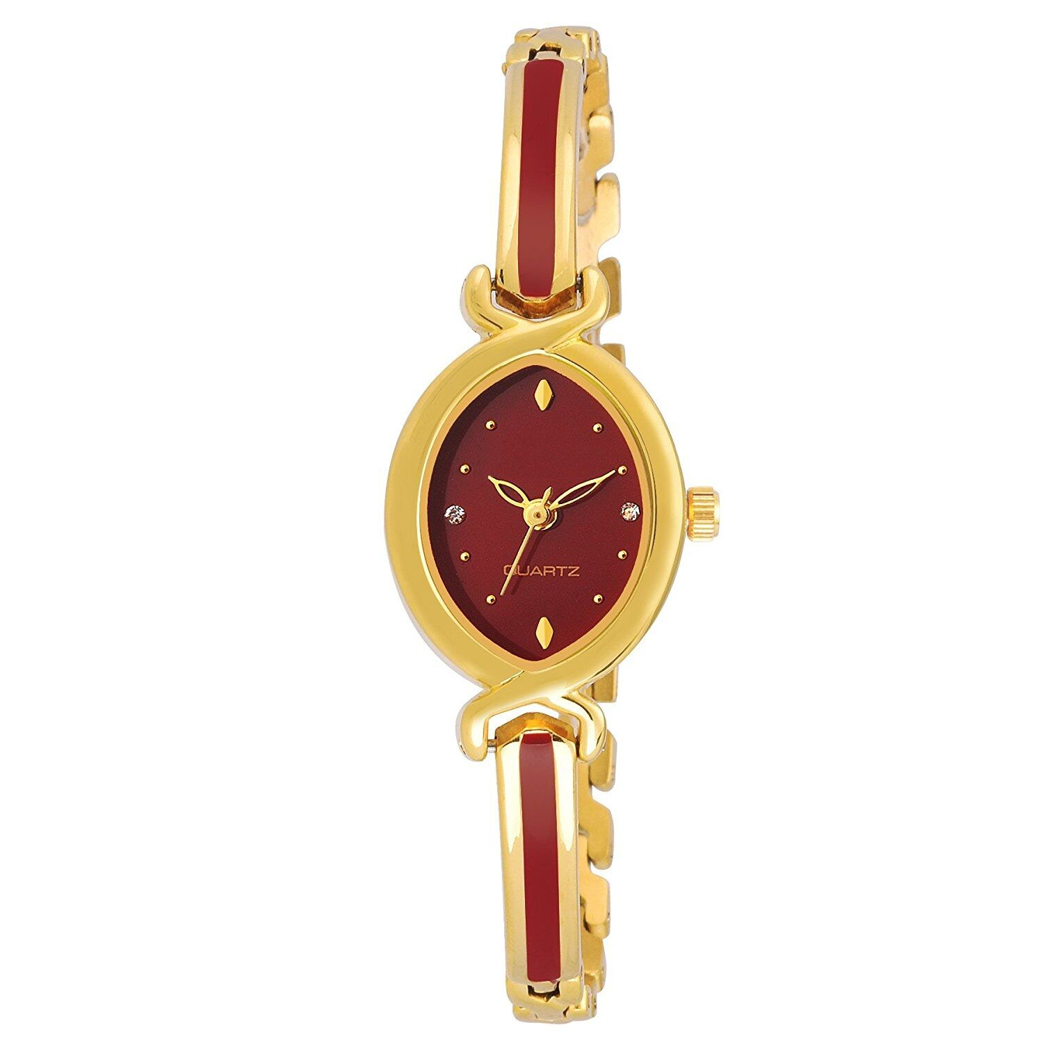 Senjarya Times New Stylish Maroon Dial Bengal Watch For Girls And Ladies