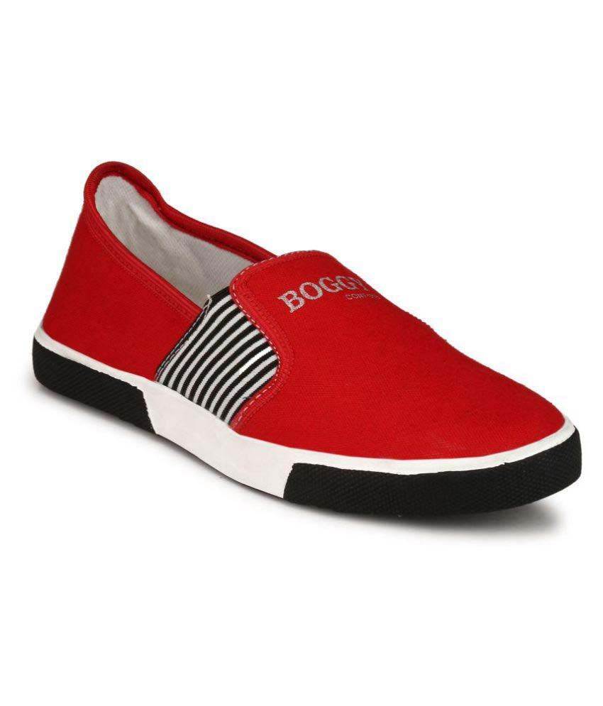 Boggy Confort Red Sneakers Casual Shoes