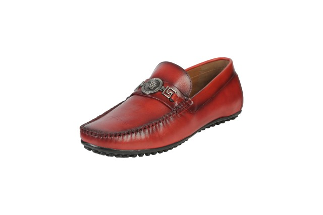 Men Loafer Shoes Red