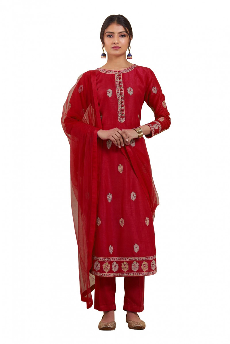 Exclusive Magnetic Maroon Color Salwar Suit