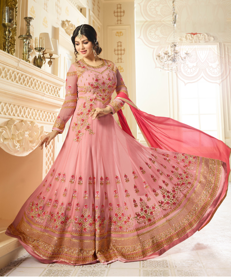 Ayesha Takia Wear Georgette Pink Colour Salwar Suit