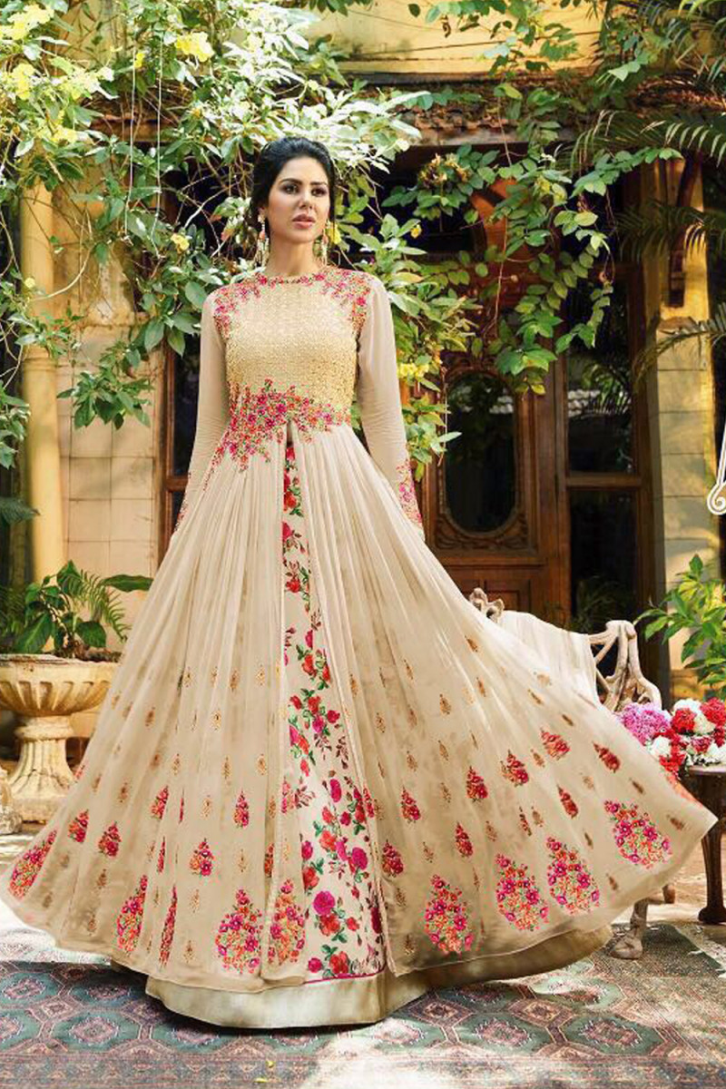 Eye catching Designer And Wedding Wear Long Gown