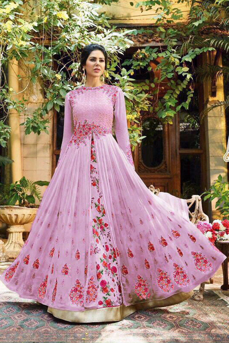 Precious Designer And Embroidered Long Gown