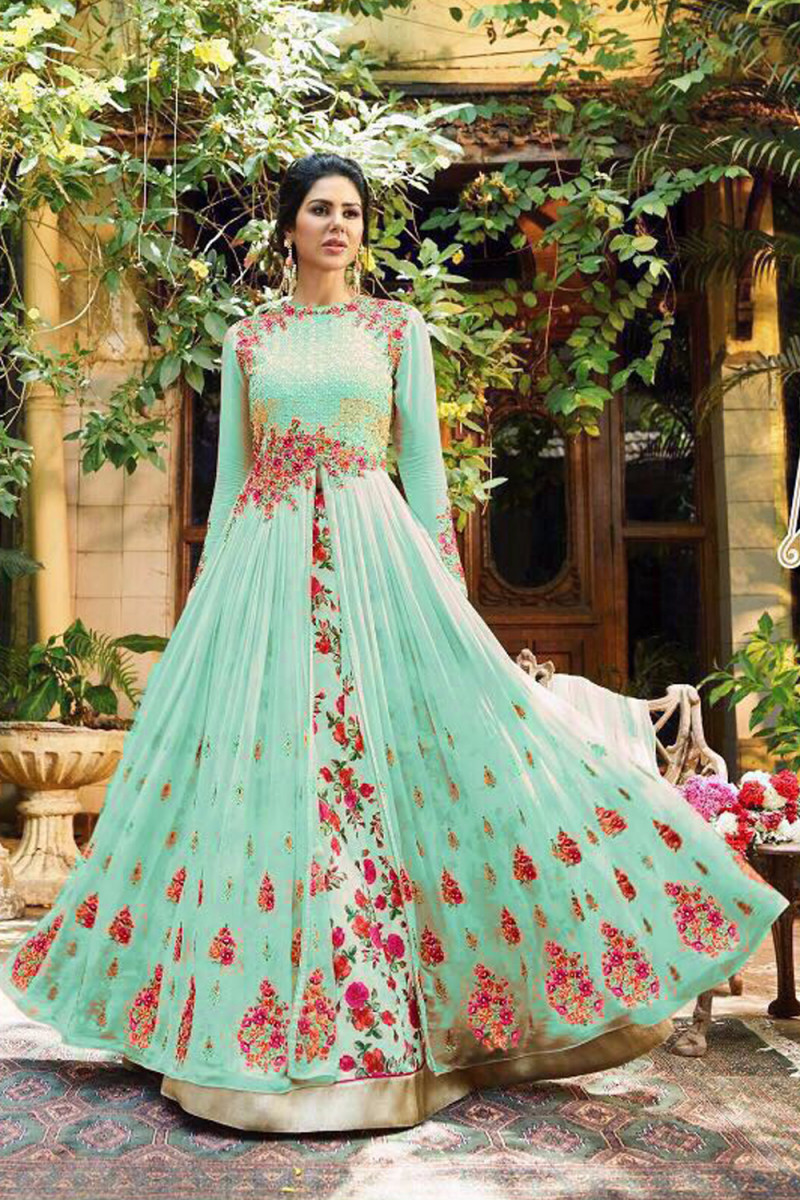 Wonderful Designer And Festival Wear Long Gown