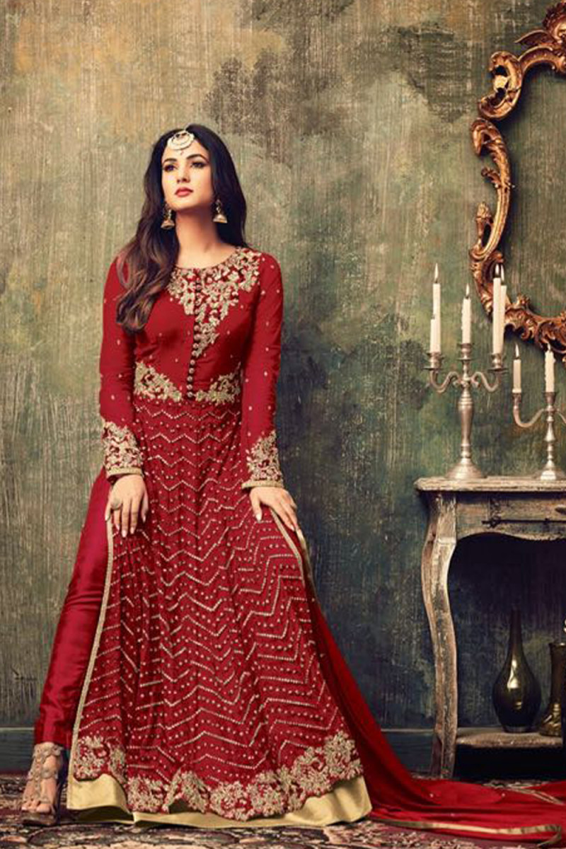 Elegant Festival Wear Long Anarkali Suit