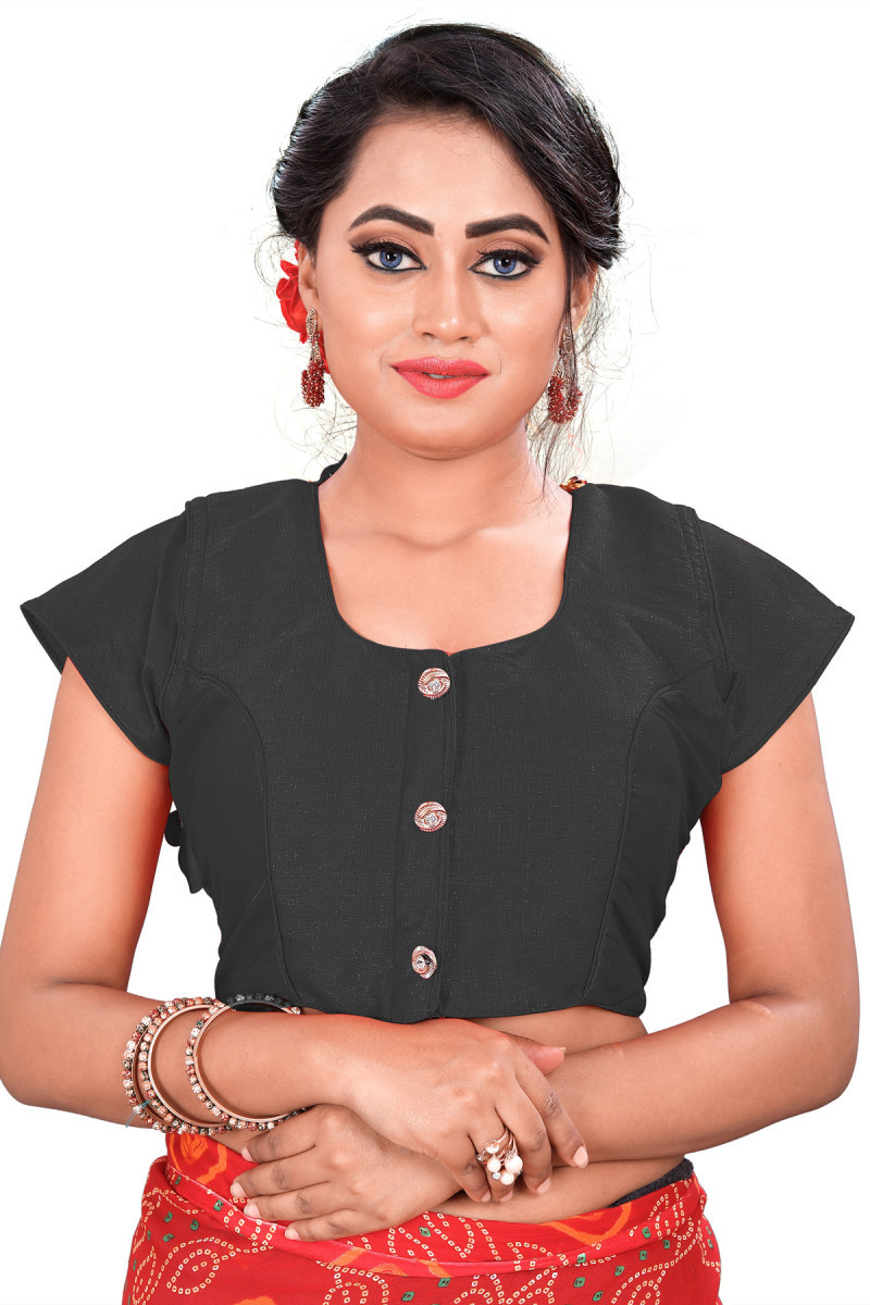 Outstanding Black Colour Round Neck Blouse For Women