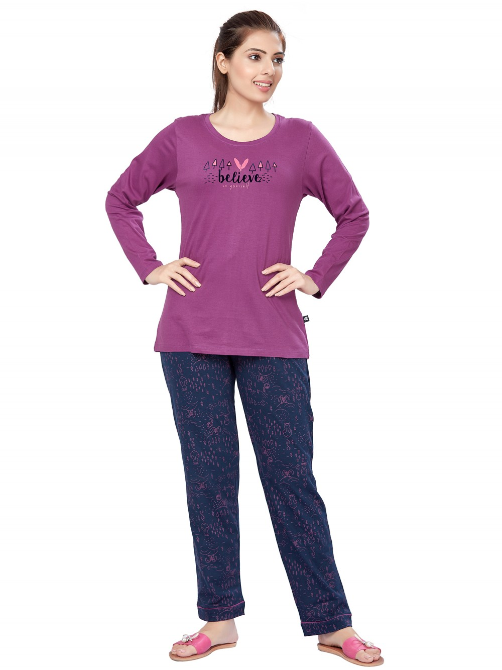 July Nightwear for women Essentials T- Shirt   Pyjama -PC708L