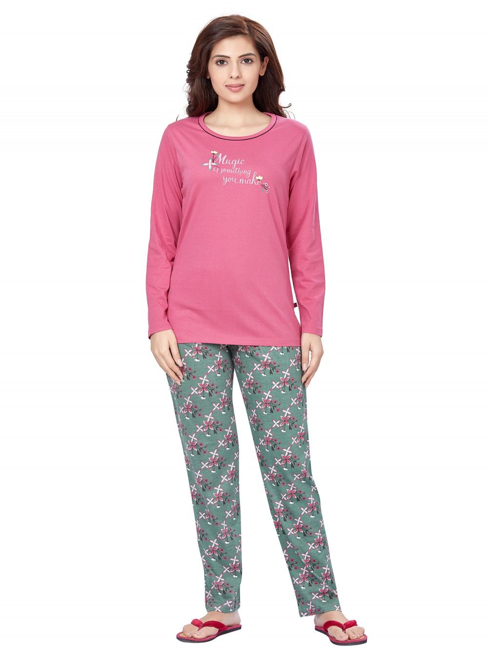 July Nightwear for women Essentials T- Shirt   Pyjama -PC709L