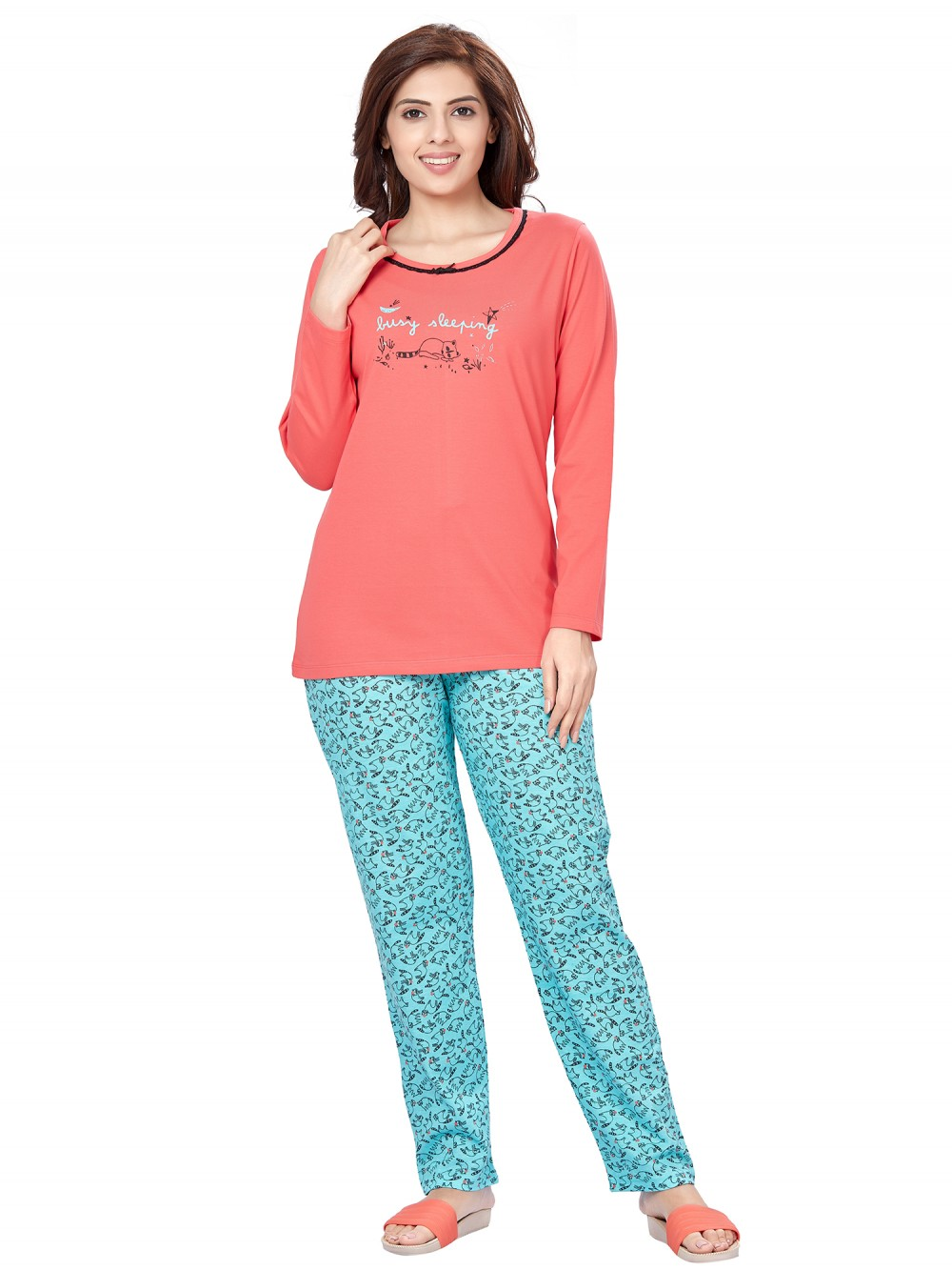 July Nightwear for women Essentials T- Shirt   Pyjama -PC713L
