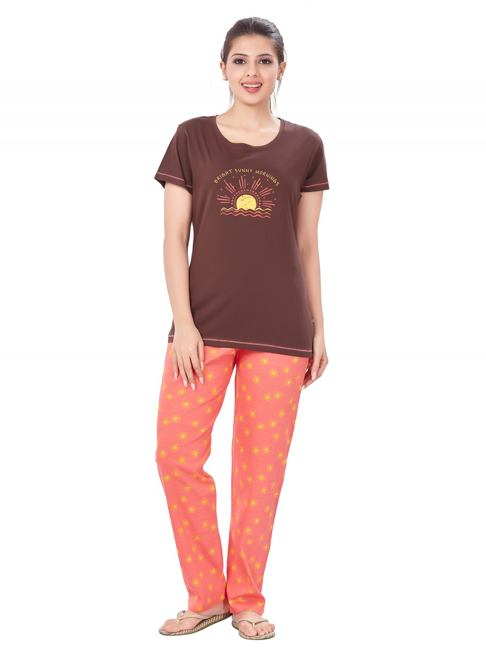July Nightwear for women Essentials T- Shirt   Pyjama -PC715