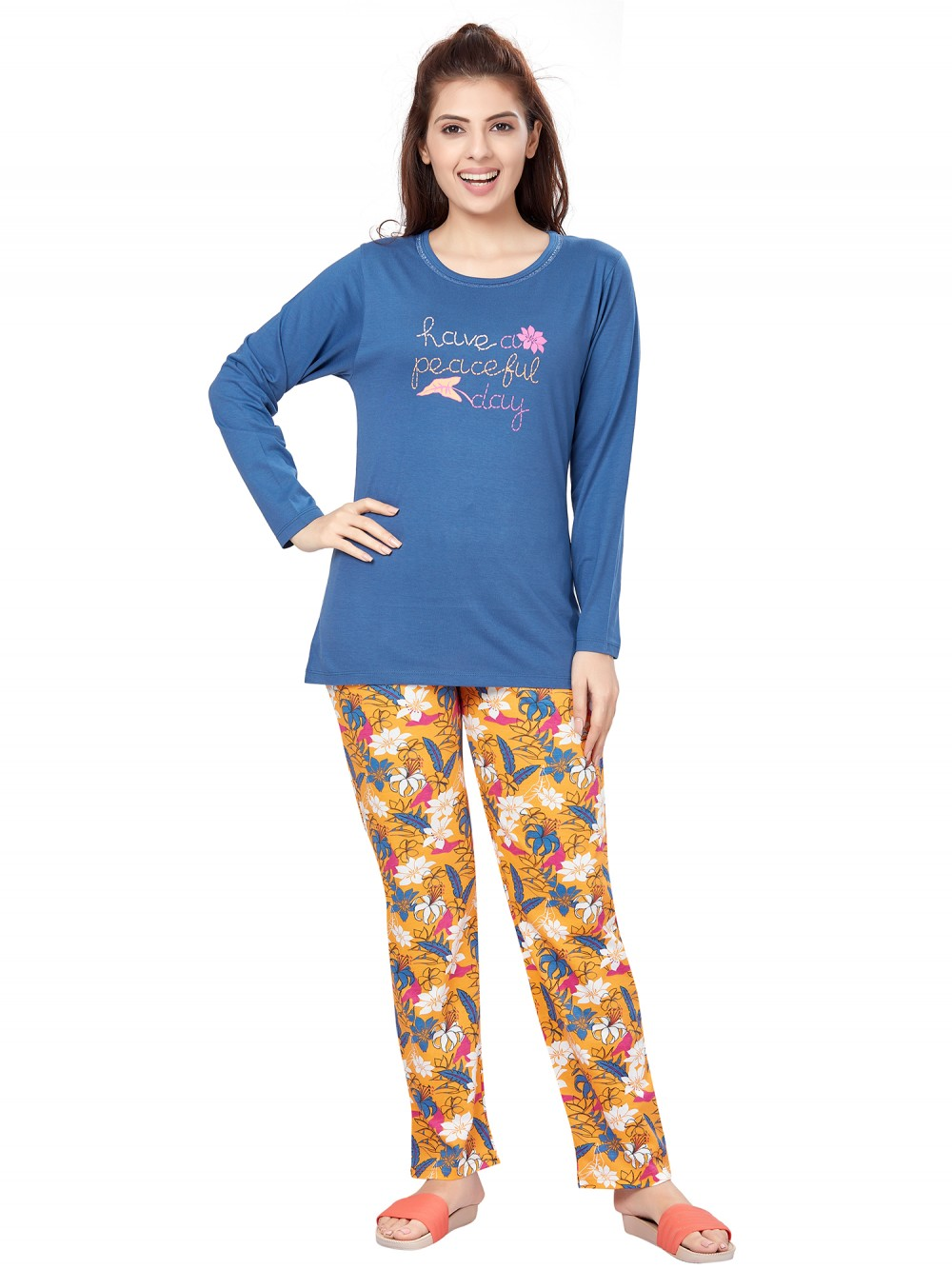 July Nightwear for women Essentials T- Shirt   Pyjama -PC716L