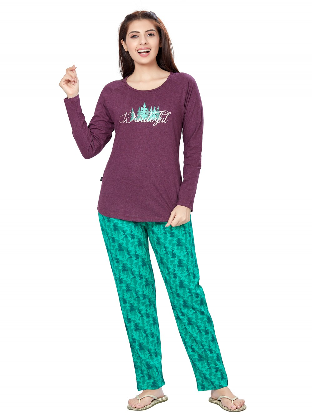 July Nightwear for women Essentials T- Shirt   Pyjama -PC717L