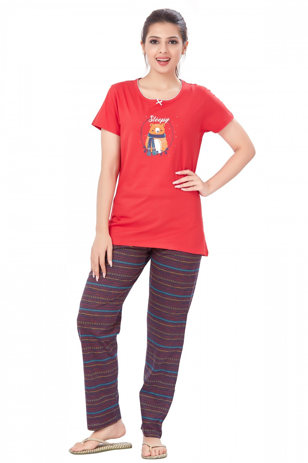 July Nightwear for women T- Shirt   Pyjama-PC735