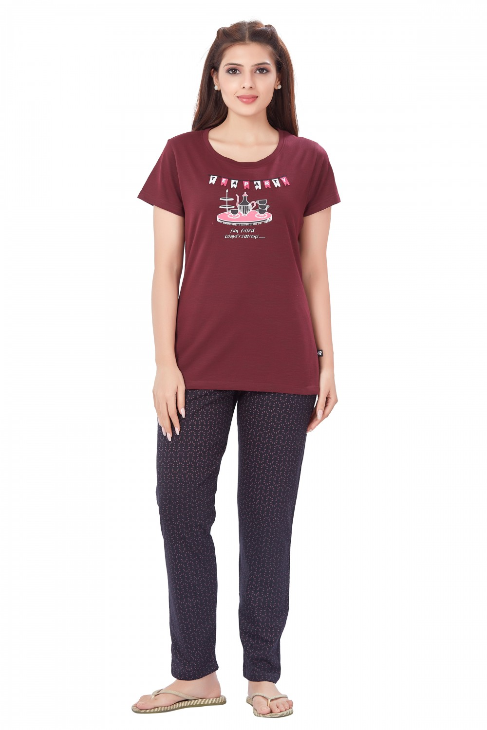 July Nightwear for women T- Shirt   Pyjama-PC736