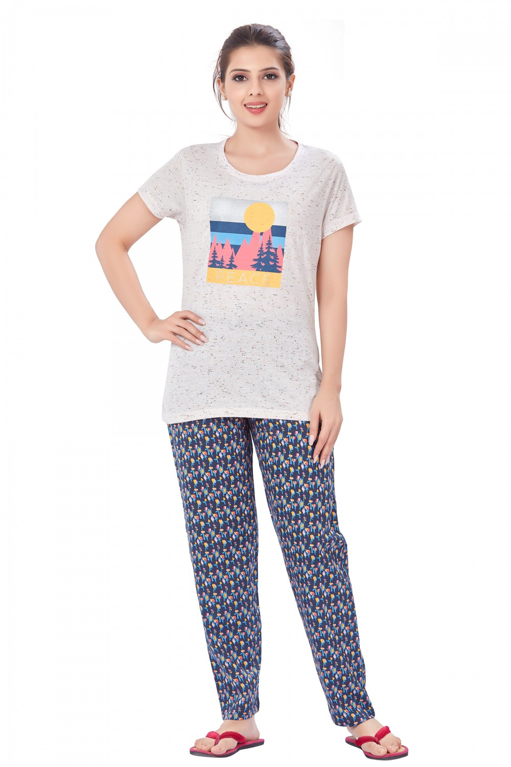 July Nightwear for women T- Shirt   Pyjama-PC744