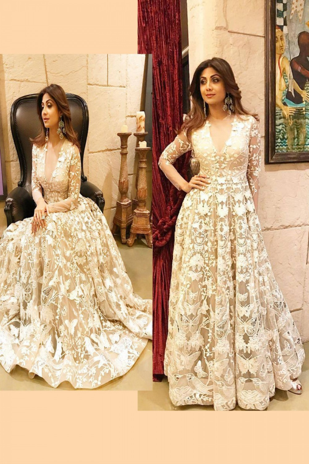 Flattering White Colour Gown