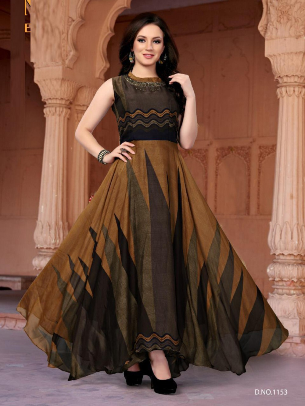 Outstanding Multi Colour Anarkali Gown
