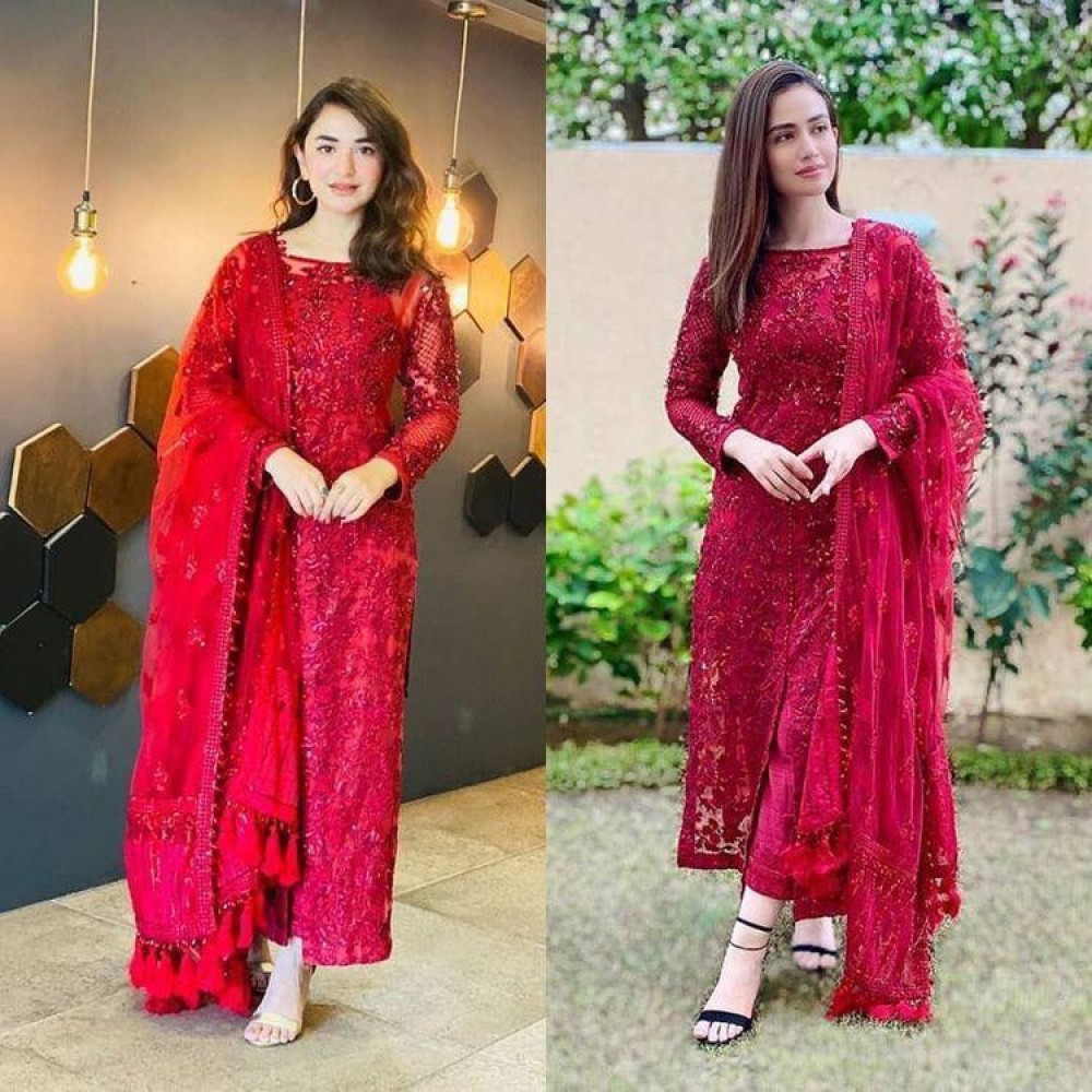 Presenting New Party Ware Kurti - Bottom With Dupatta