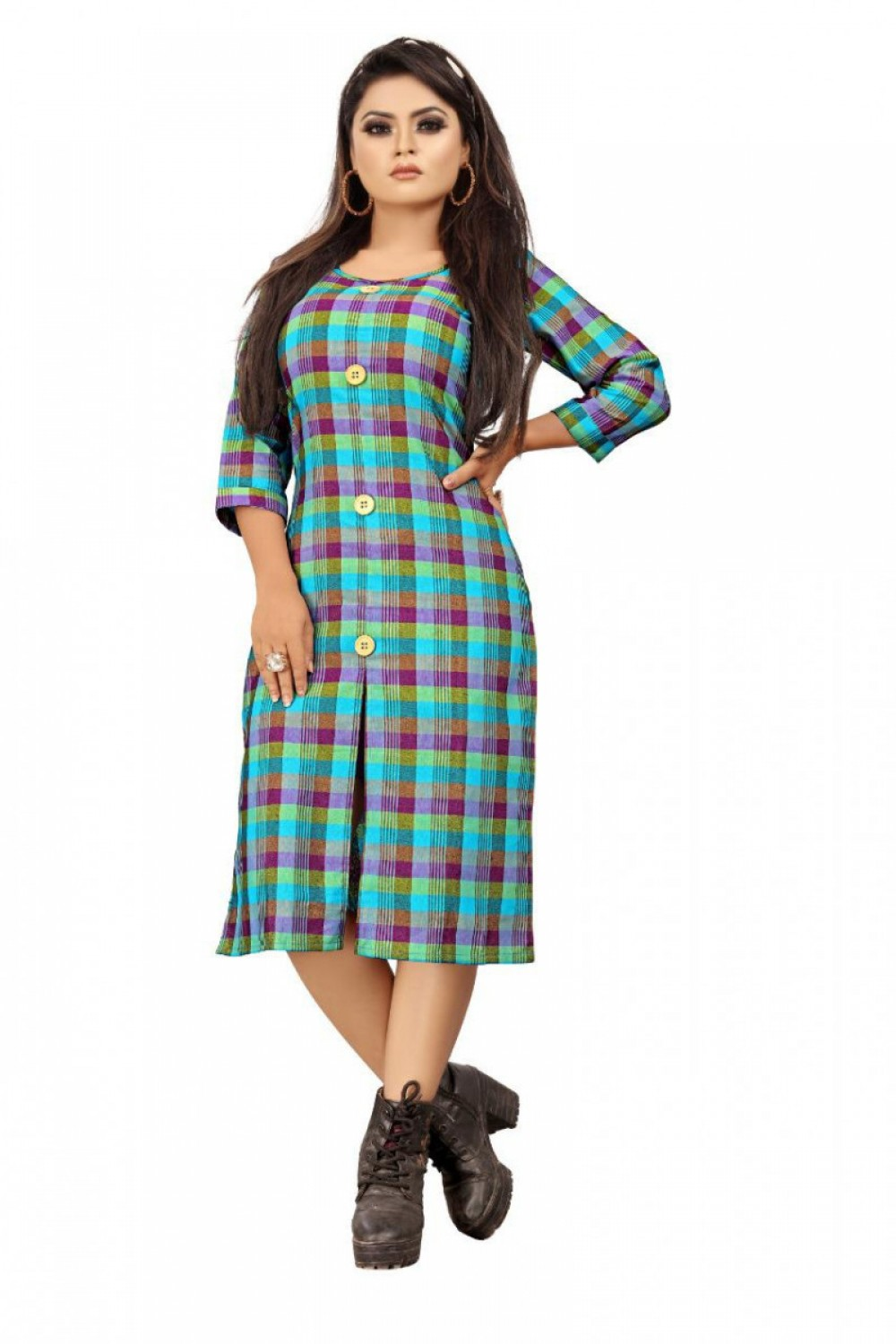 Peppy Cotton Print Kurti Plazzo