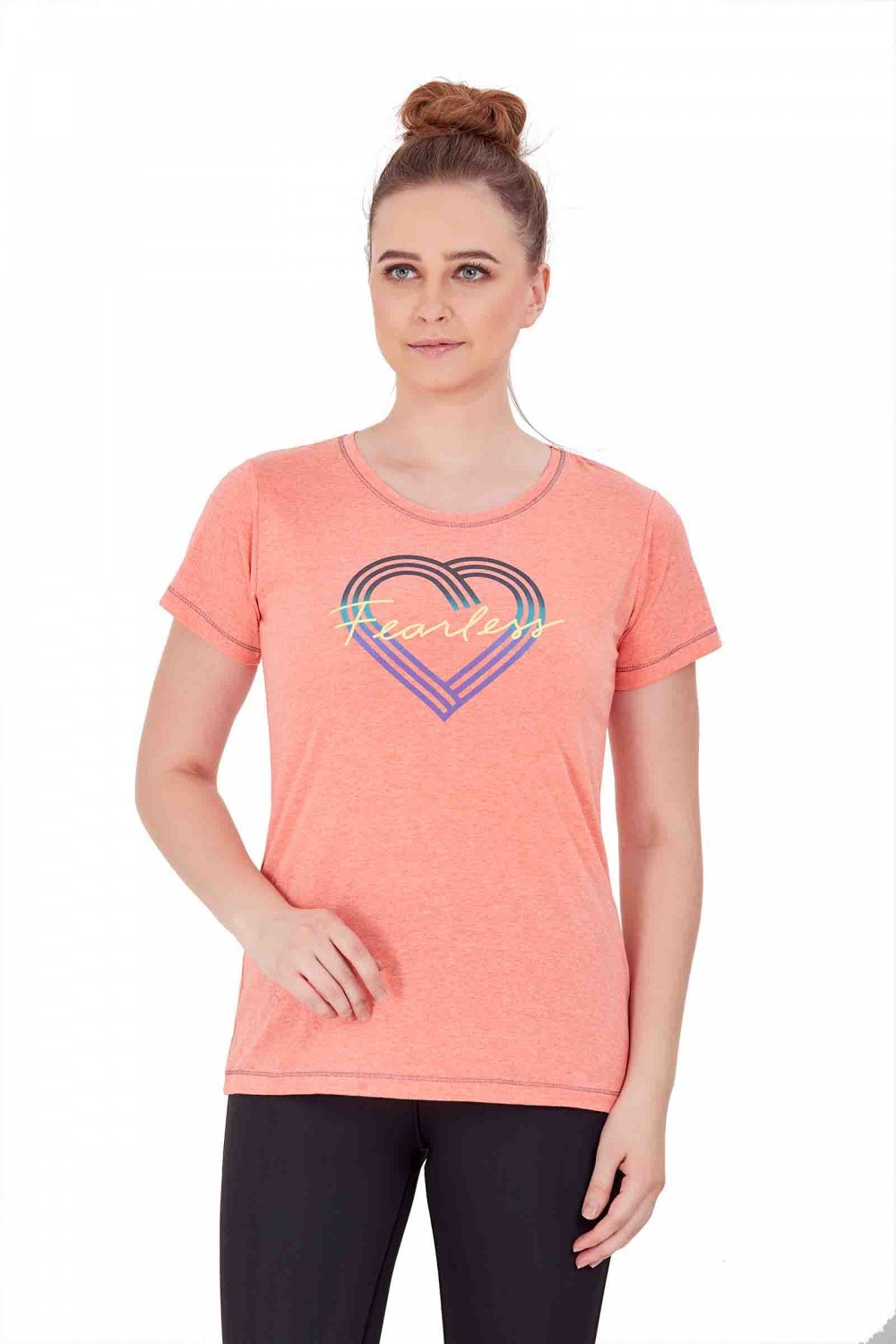 Flexelle Red Gym T Shirt FT-37Red