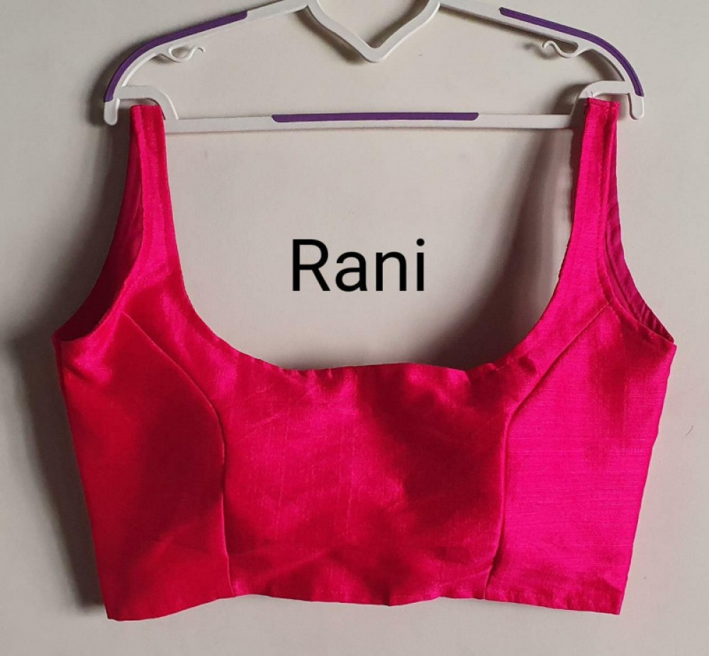 Flattering Rani Colour Round Neck Stitched Blouse Online
