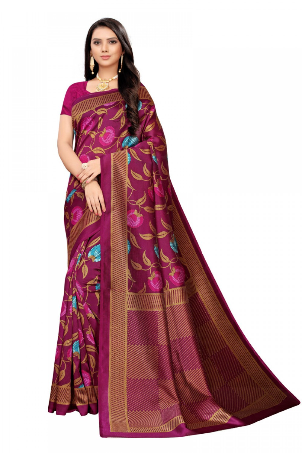 Pleasance Rani party wear Denting saree