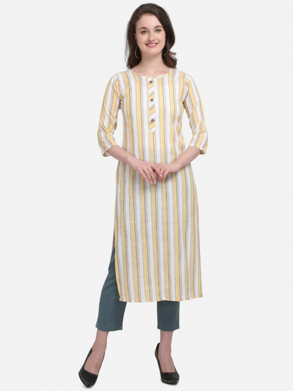 Alluring Wedding Wear White Colour Kurti online available