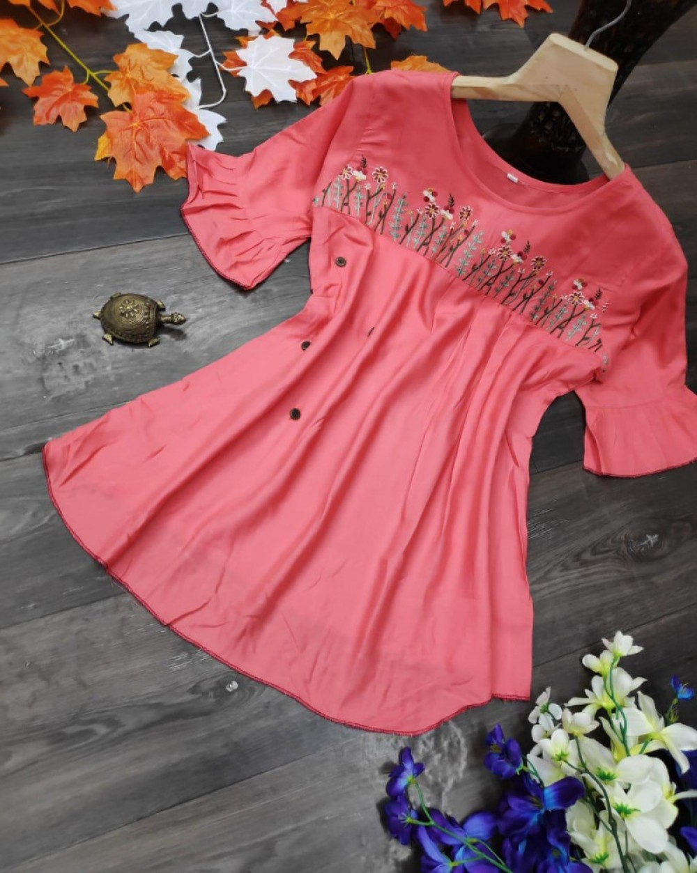 Fashion Design Light Pink Colour Casual Wear Top