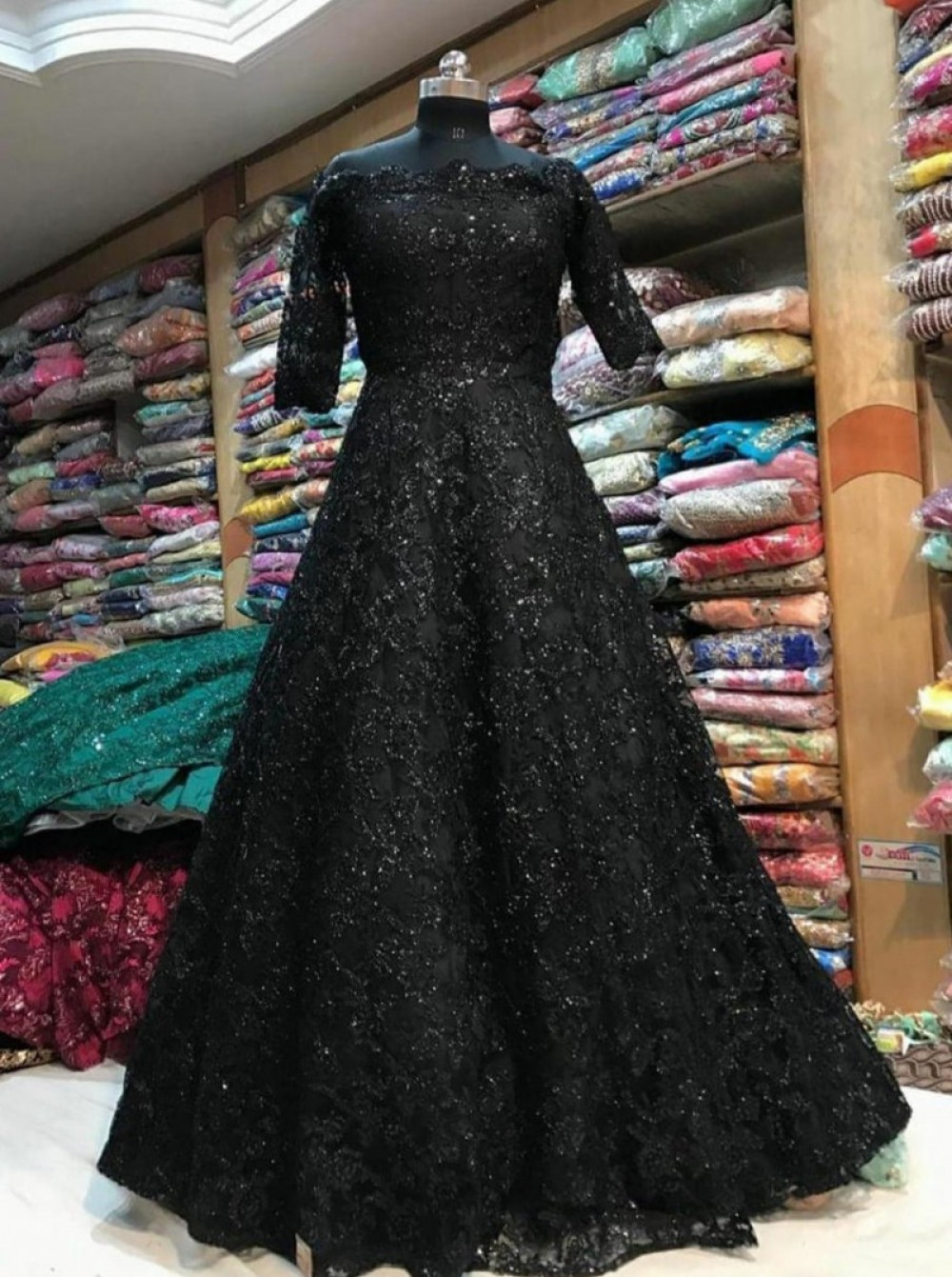 Exotic Black Gown