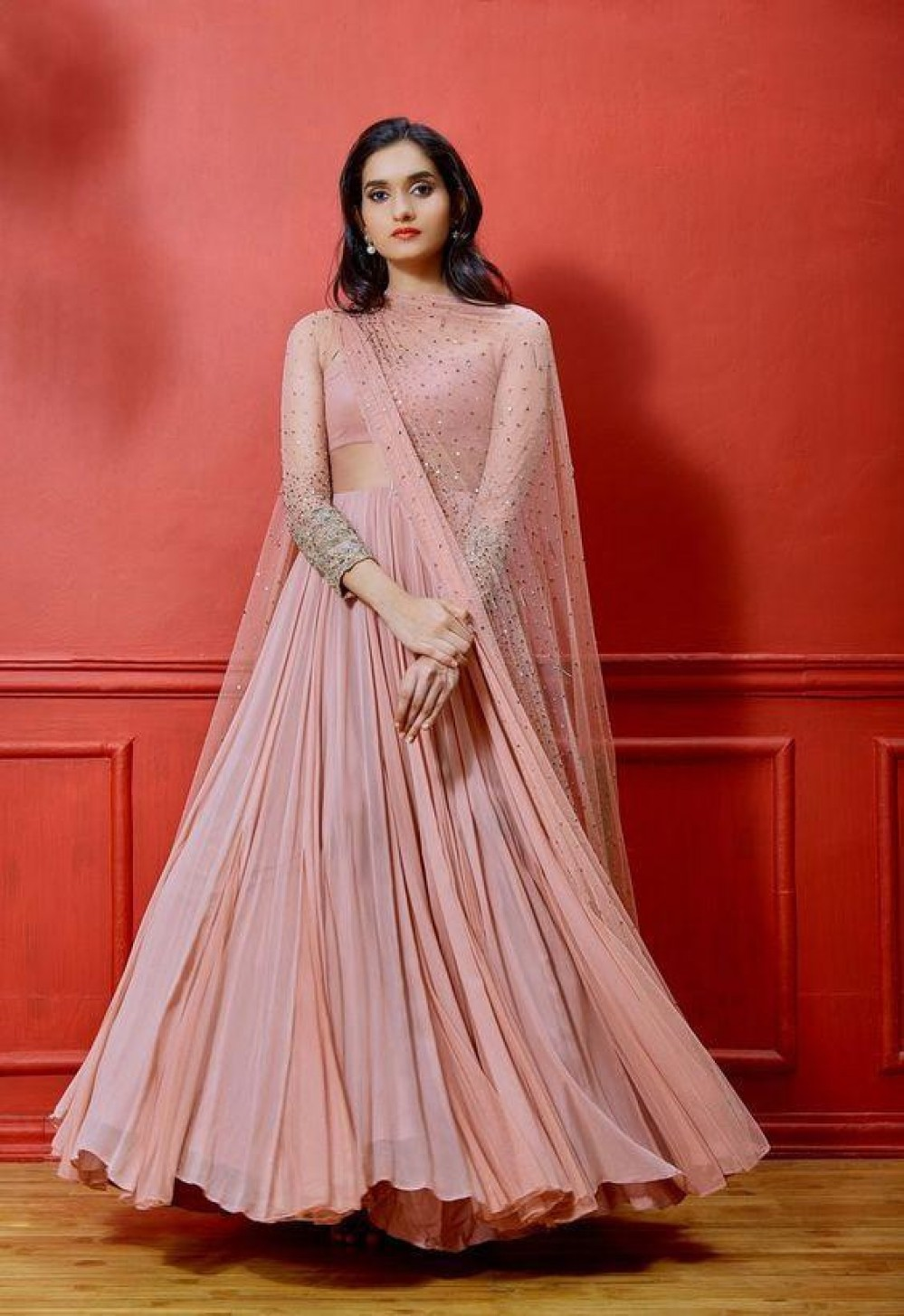 Flattering Light Pink Colour Lehenga Choli
