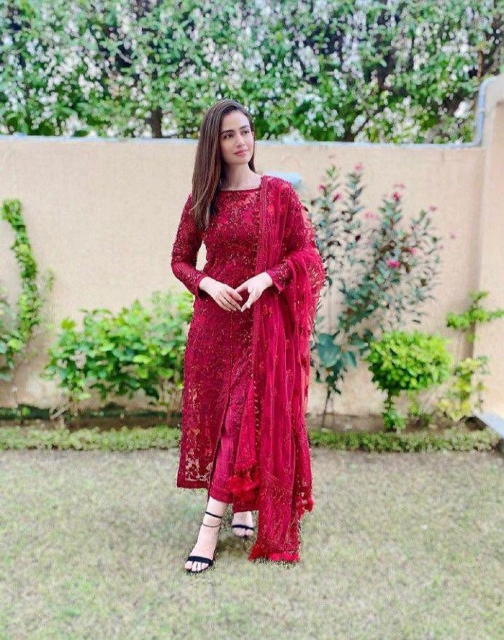 Blissful Red Salwar Suit