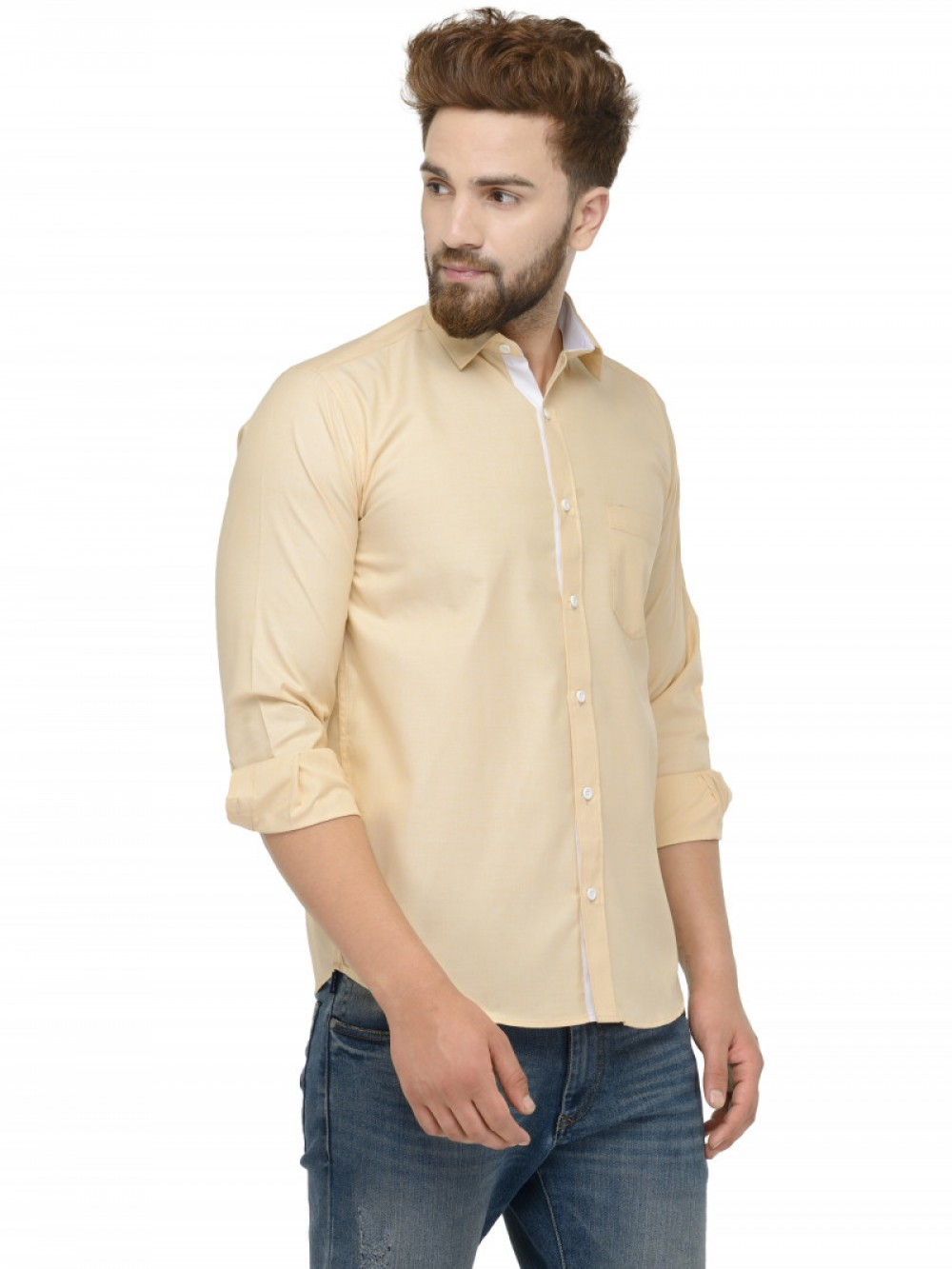 Light Yellow Full Sleeve Shirt