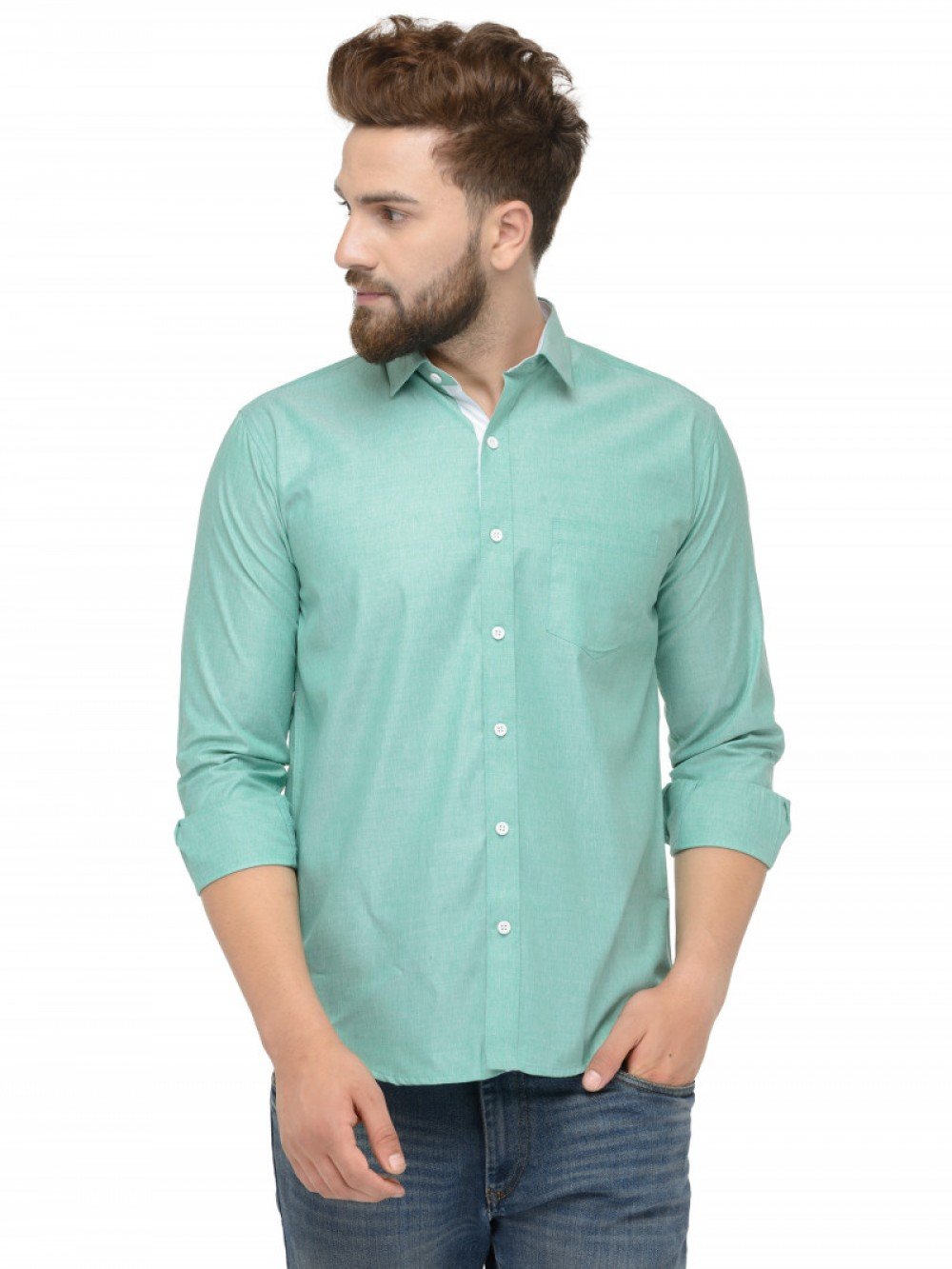Green Color Attractive Wear Shirt