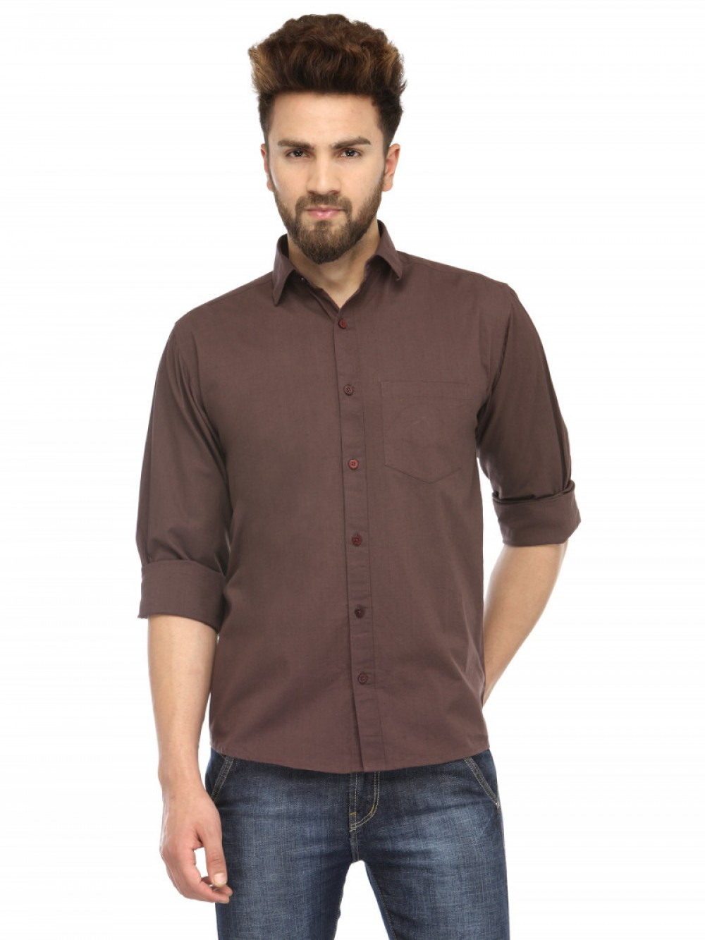 Light Coffee Color Attractive Wear Shirt