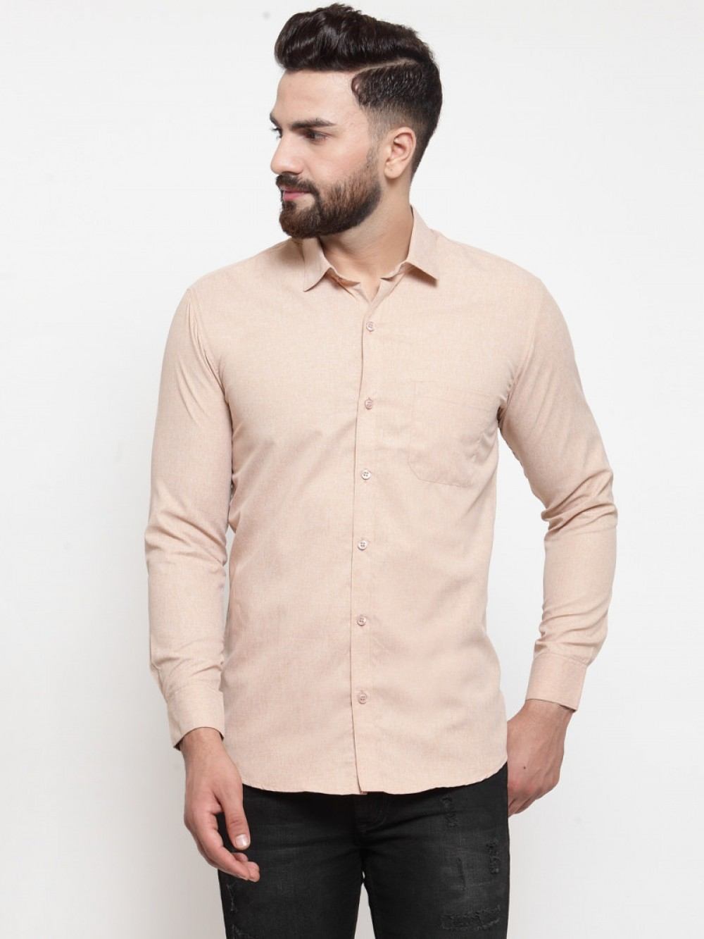 Attractive Light Brown Color Formal Shirt