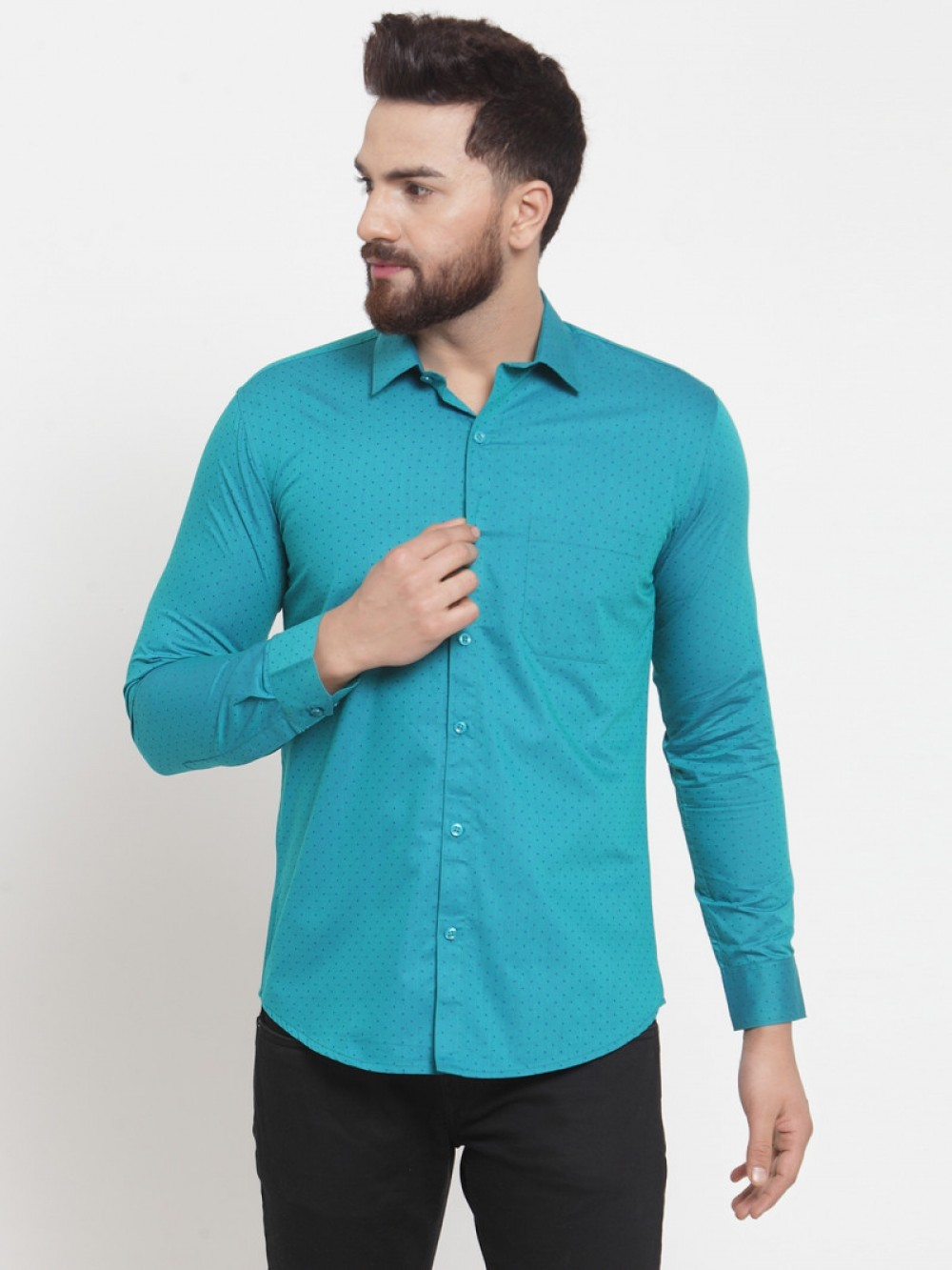 Green Color Full Sleeve Shirt