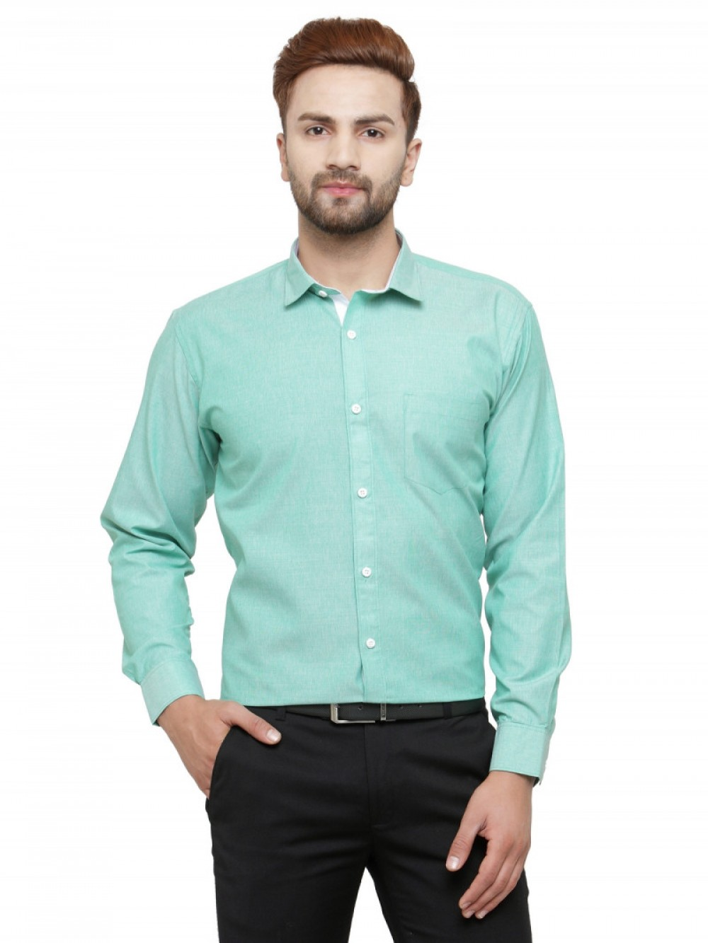 Sky Blue Plain Formal Wear Shirt