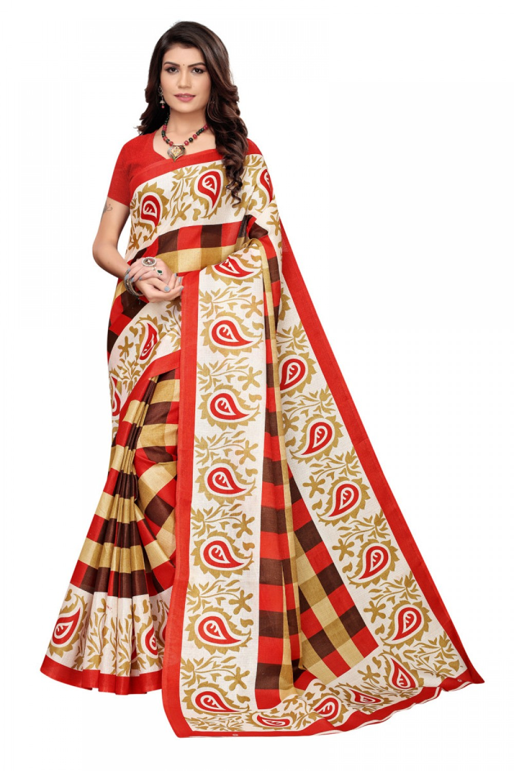 Breathtaking Multi Colour Casual wear Denting saree