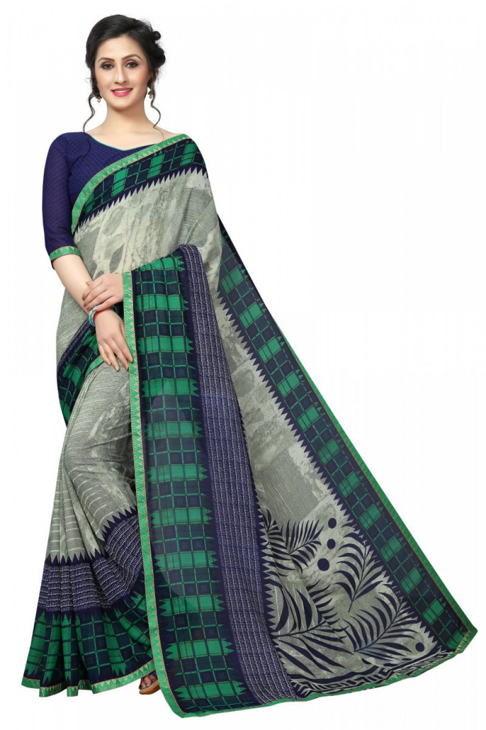 Stylee Lifestyle Most Like Casual Wear Georgette Multi Colour Printed Saree for ladies
