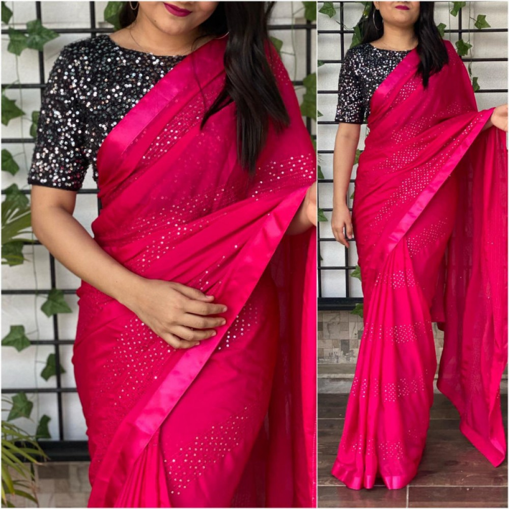 Wonderful Red Colour Casual Wear Saree