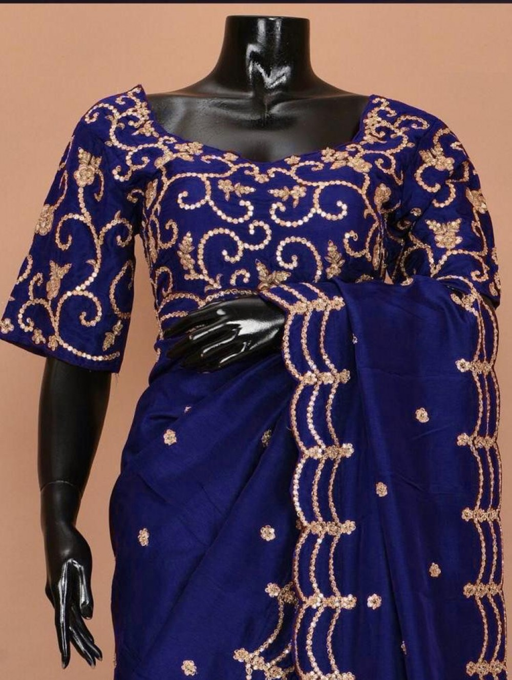 Charming Fancy Blue Colour Saree