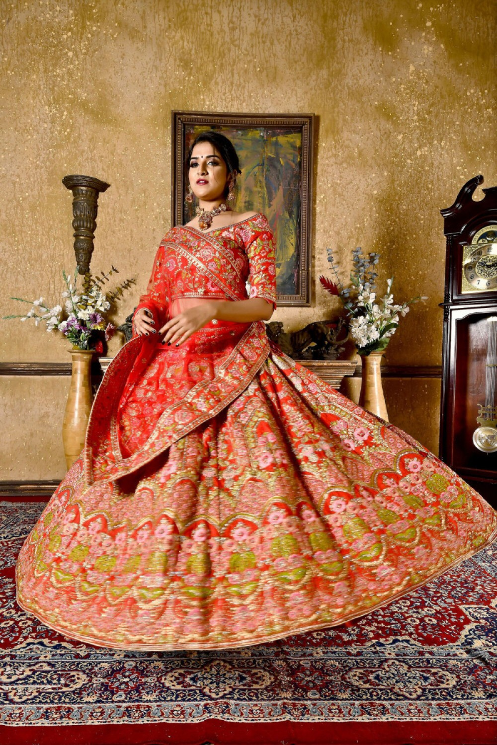 Exotic Most Famous Most Red Colour Bridal Wear Embroidered Lehenga Choli