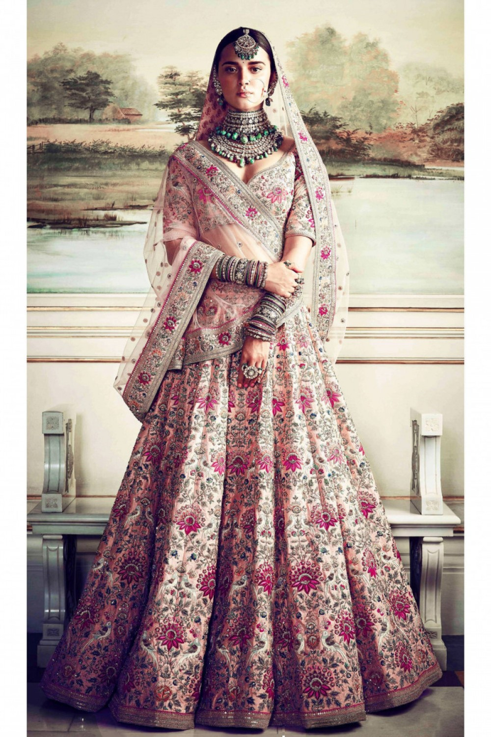 Graceful Celebrity Selection Peach Colour Casual Wear Embroidered Lehenga Choli girl special