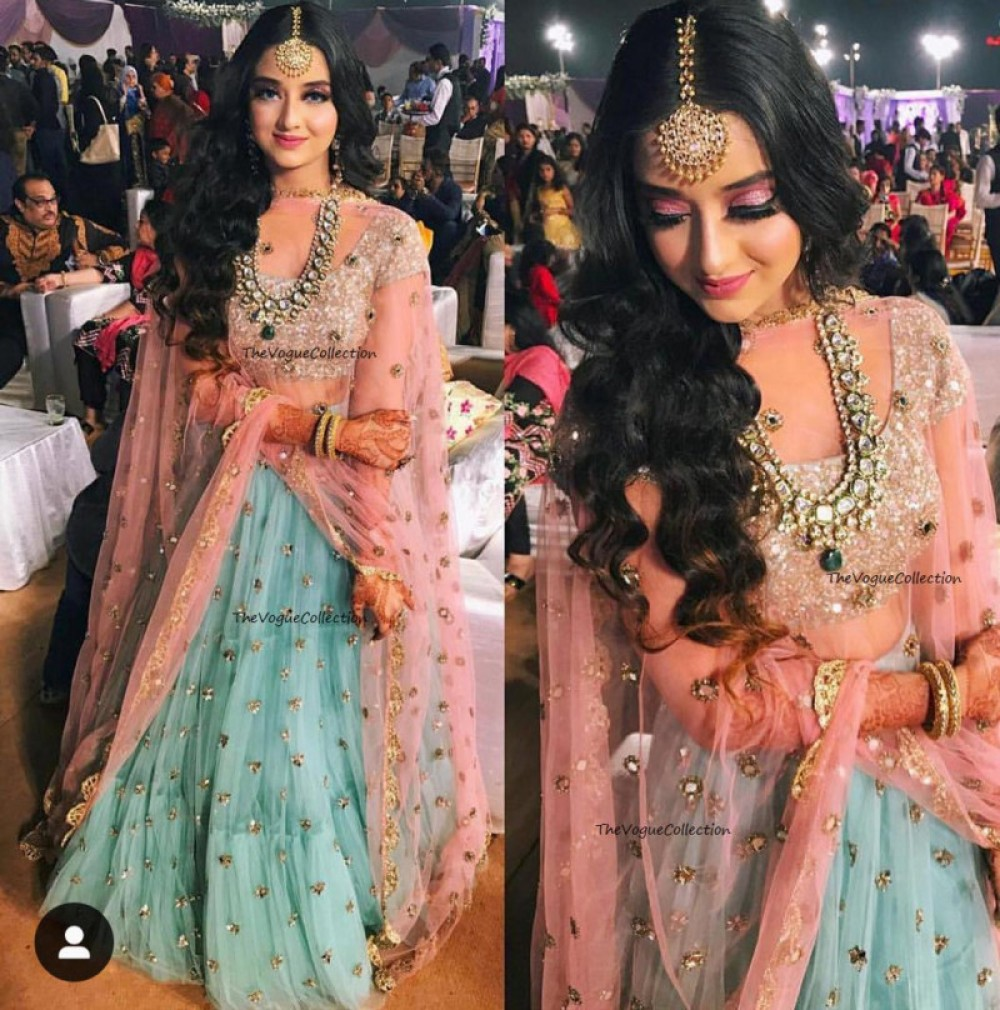 Fashion Design Casual Wear Net Lehenga with Sequin Worked and CAN CAN